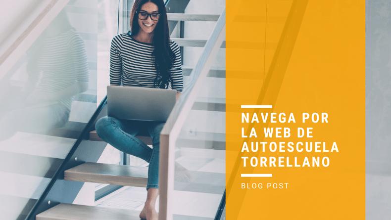Navega por la web de Autoescuela Torrellano